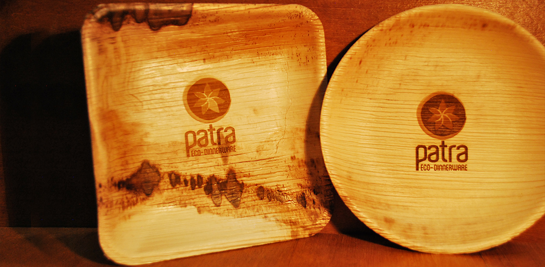 Patra® Signage. Patra® Eco-Dinnerware ... & Dinnerware from Fallen Palm Leaves - Palm Leaf Plates